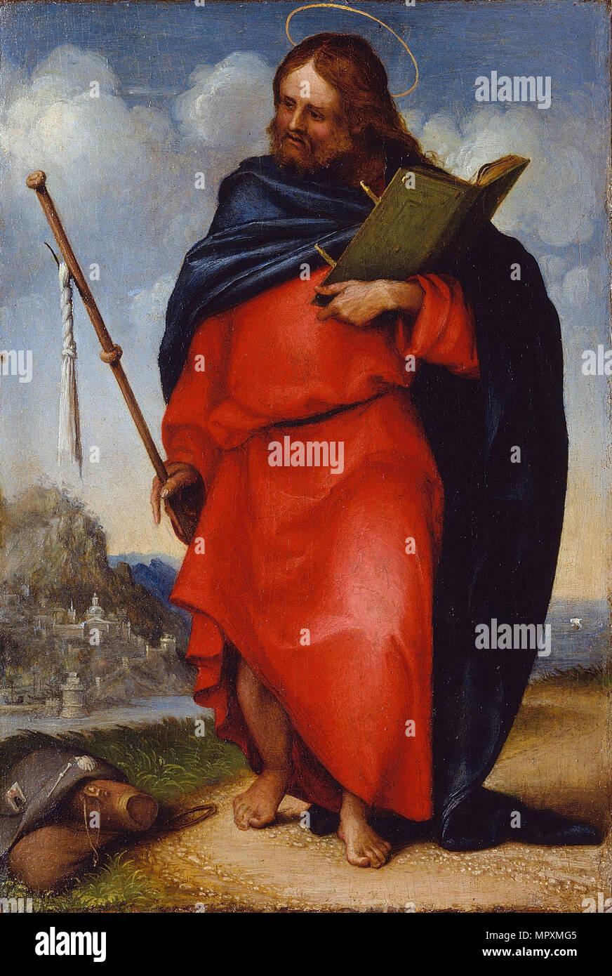 Apostle Saint James the Great, 1516. - Stock Image