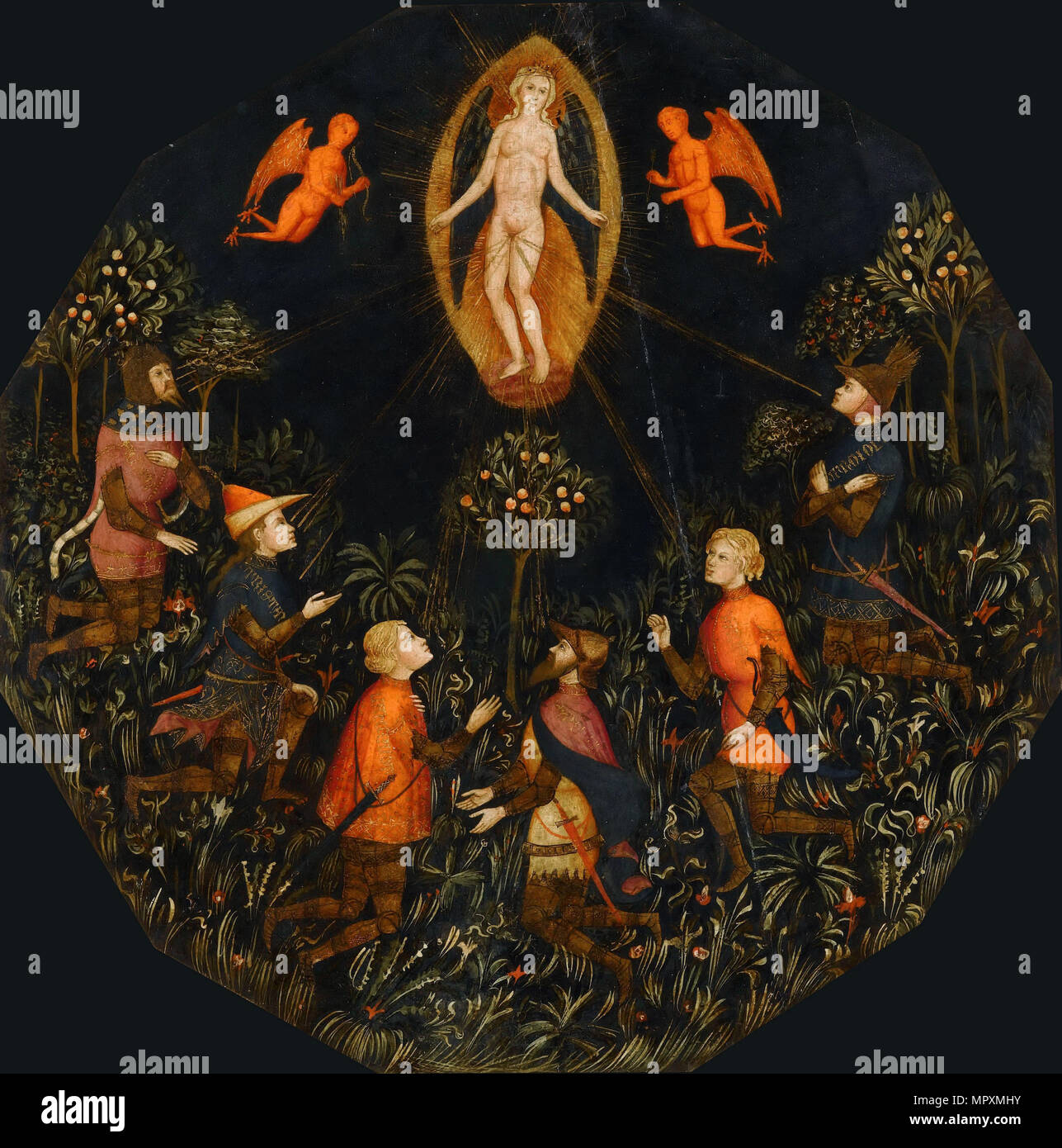 Triumph of Venus, First Half of 15th cen.. - Stock Image