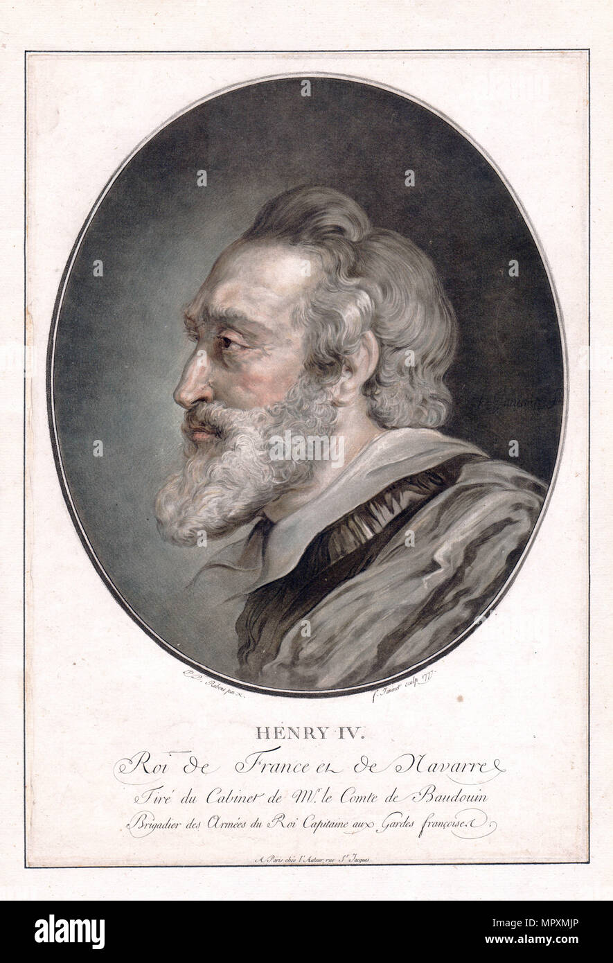 King Henry IV of France, 1777. - Stock Image