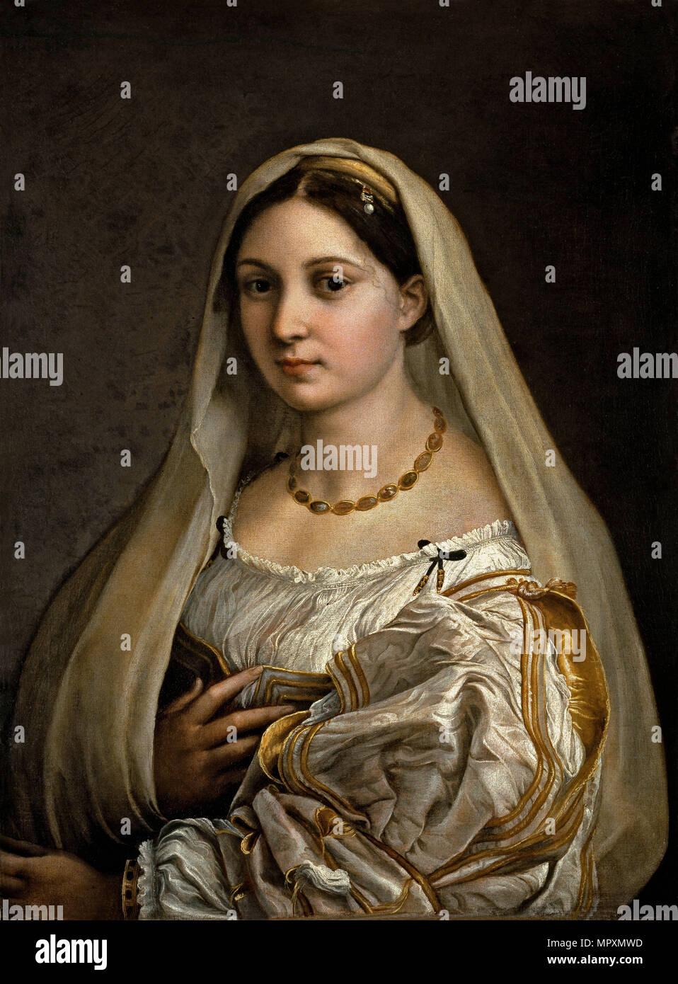 La donna velata (The woman with the veil), 1516. Stock Photo