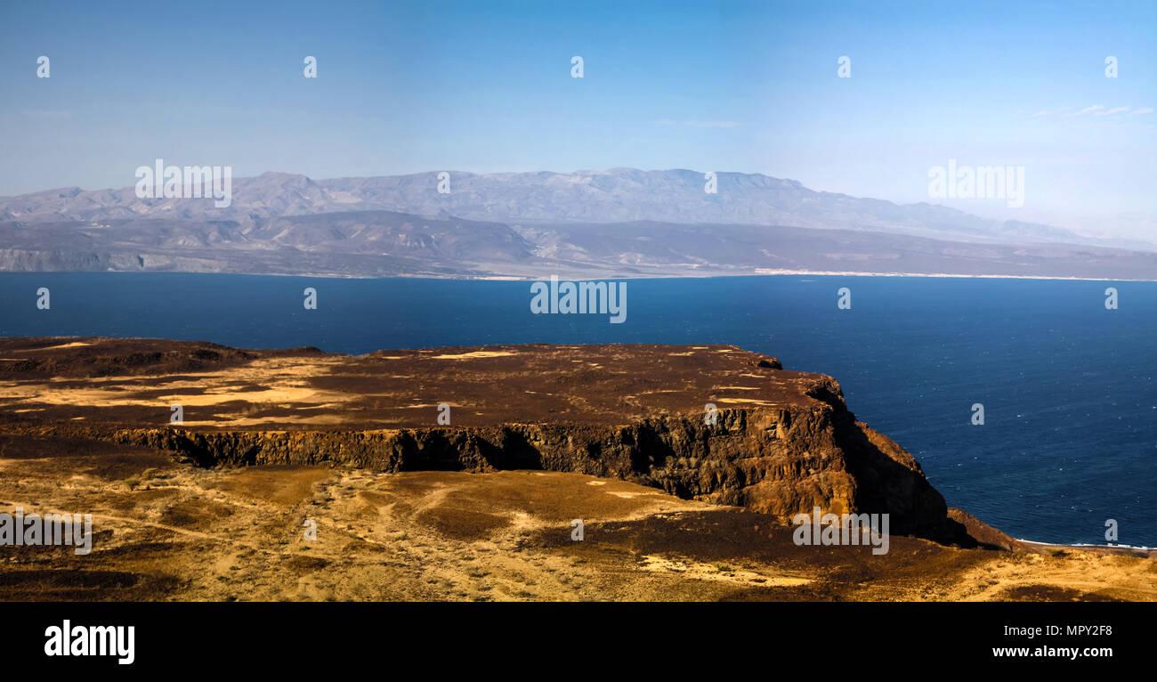 Gulf of Tadjoura and Ghoubet lake , Djibouti - Stock Image