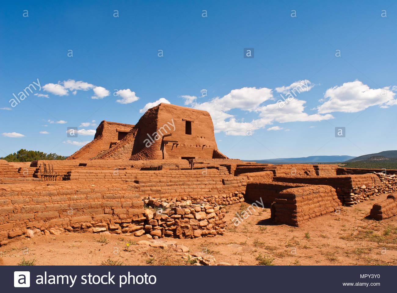 Pecos National Historic Park near Santa Fe, New Mexico, USA - Stock Image