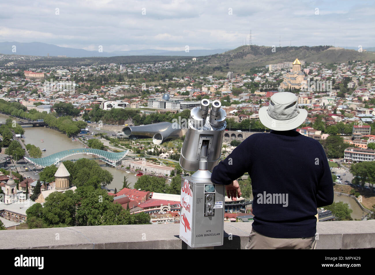 Sightseeing in Tbilisi - Stock Image