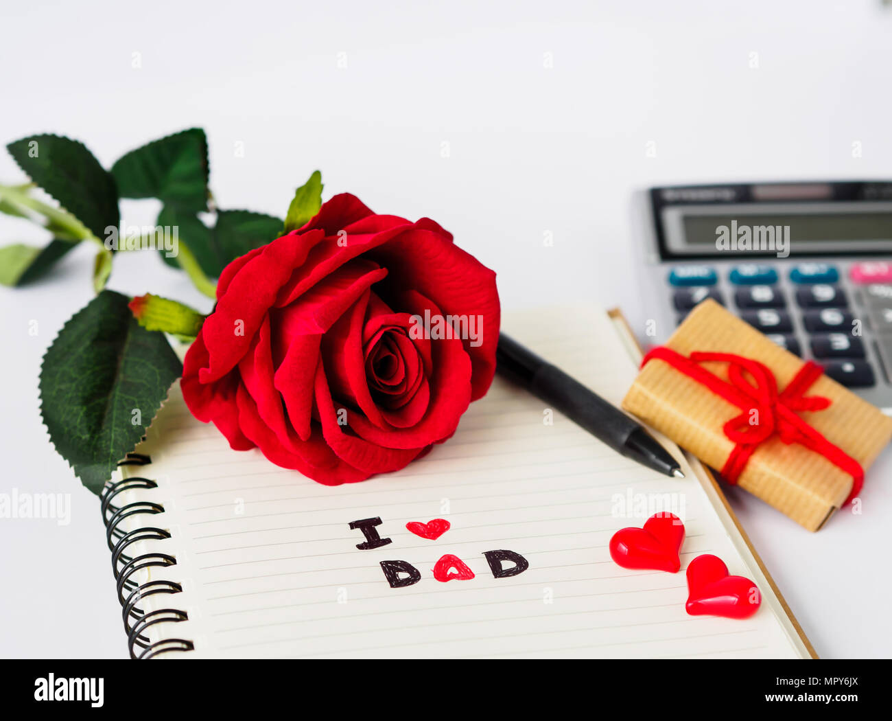 Father's day concept. I LOVE DAD message write on note ...