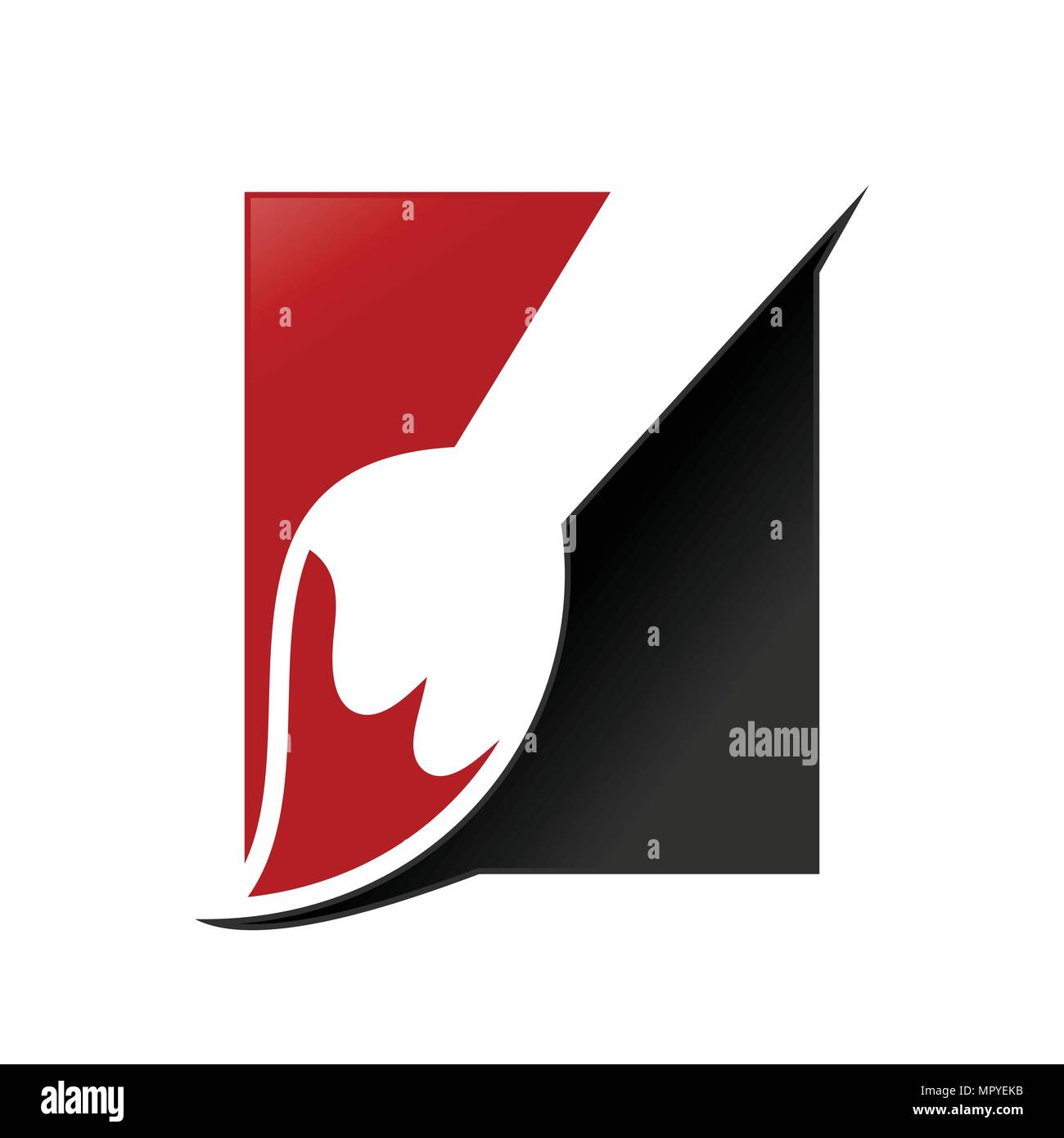 Artist Paintbrush Box Vector Symbol Graphic Logo Design - Stock Vector
