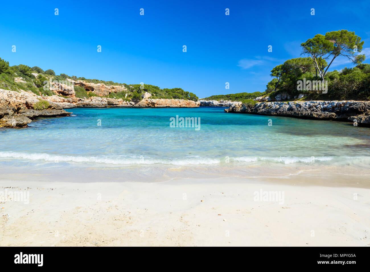 Cala Sa Nau - beautiful bay and beach on Mallorca, Spain - Europe - Stock Image