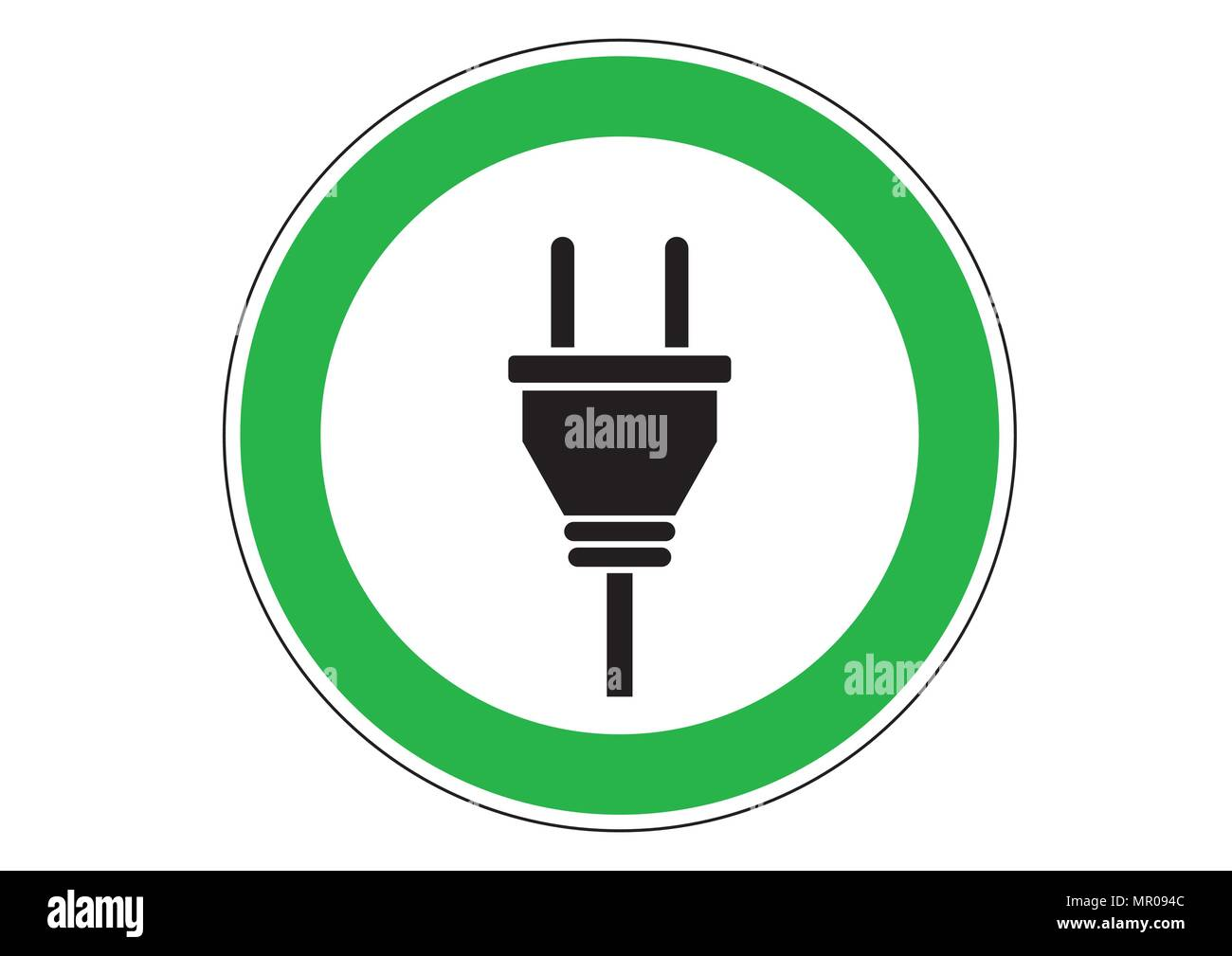 vector design of electronic charge - Stock Vector