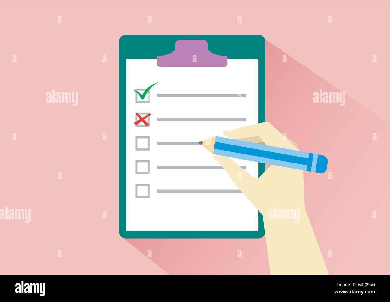 vector design of check activity draft - Stock Vector