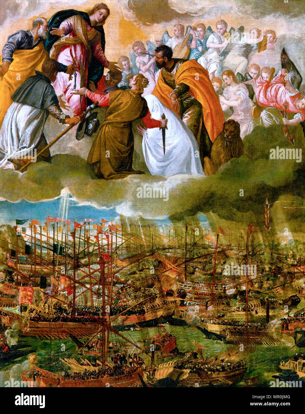 The Battle of Lepanto - Paolo Veronese, 1571 - Stock Image