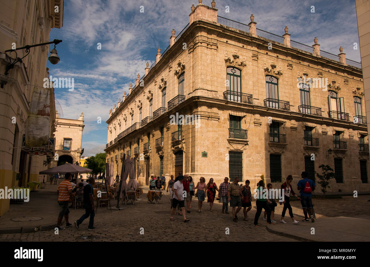Typical building in old Havana - Stock Image