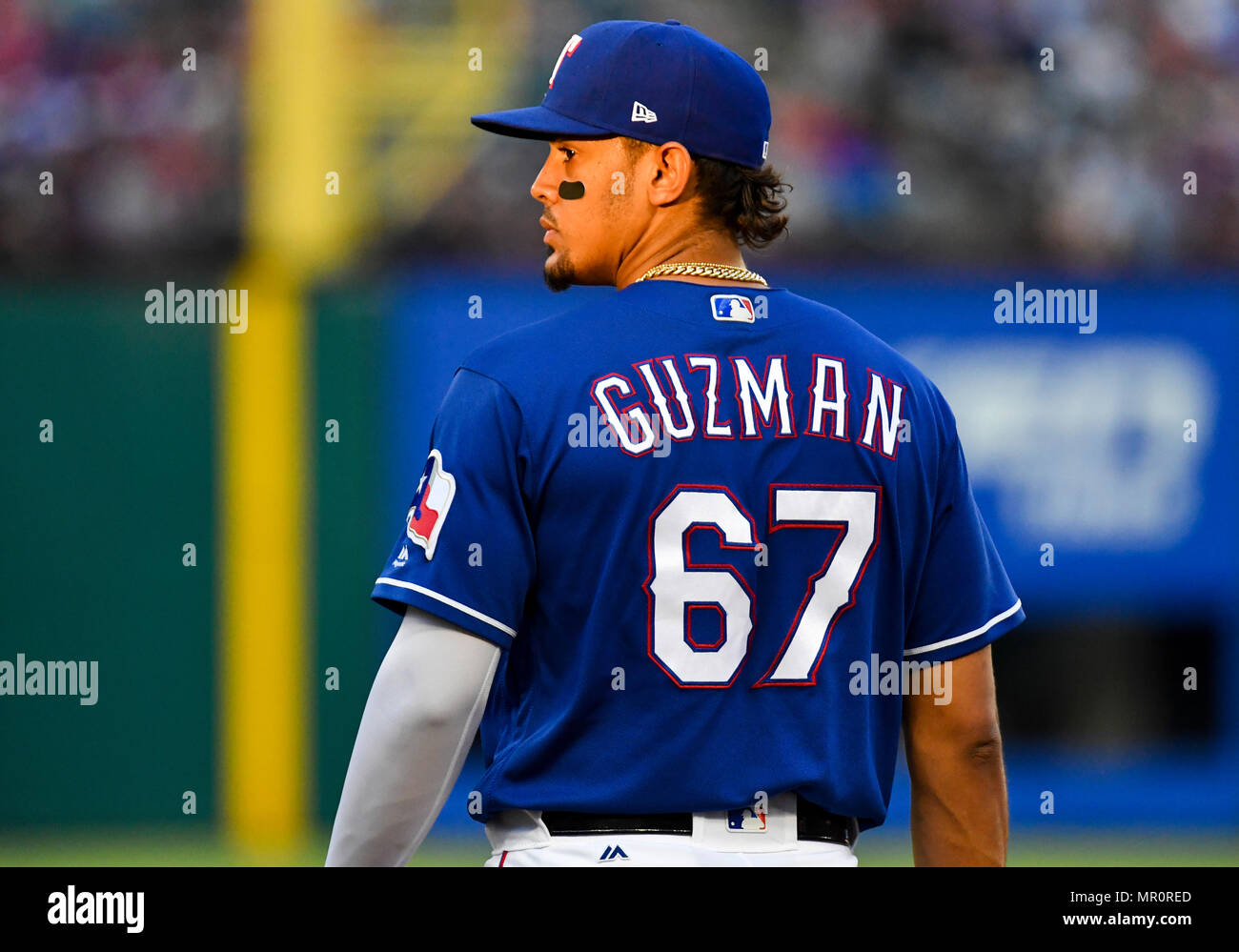 824 Stock Photos Images Alamy Jaket Hoodie New York Yankees 02 Abu May 23 2018 Texas Rangers First Baseman Ronald Guzman 67 During An Mlb
