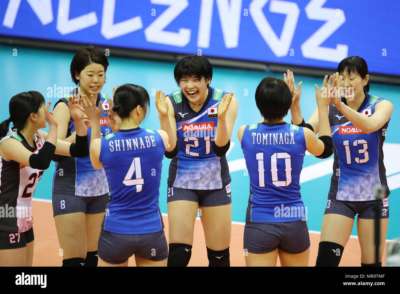 Sky Hall Toyota Aichi Japan 24th May 2018 Japan National Team Group May 24 2018 Volleyball