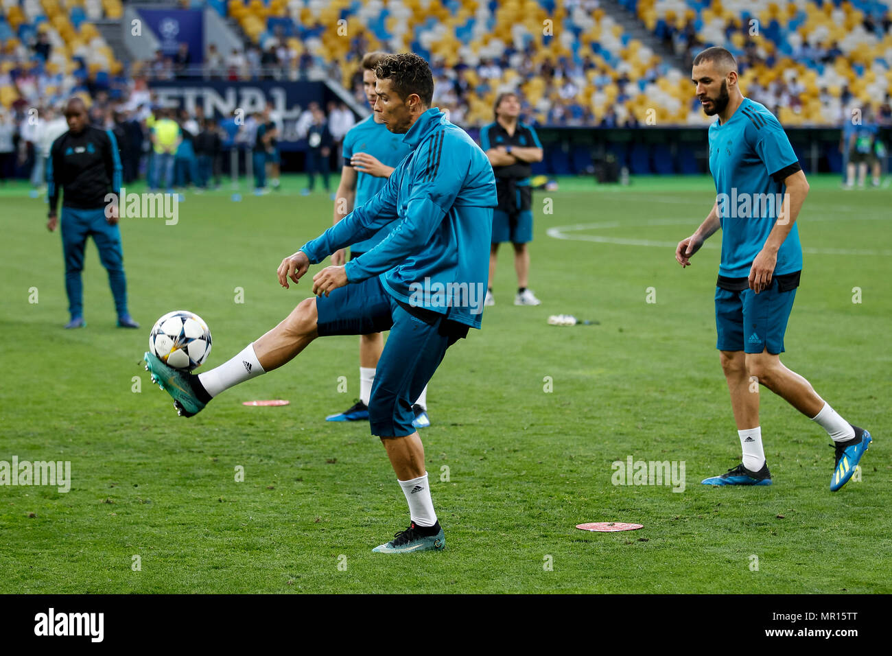 Cristiano Ronaldo Of Real Madrid During Real Madrid Training Prior To The Uefa Champions League