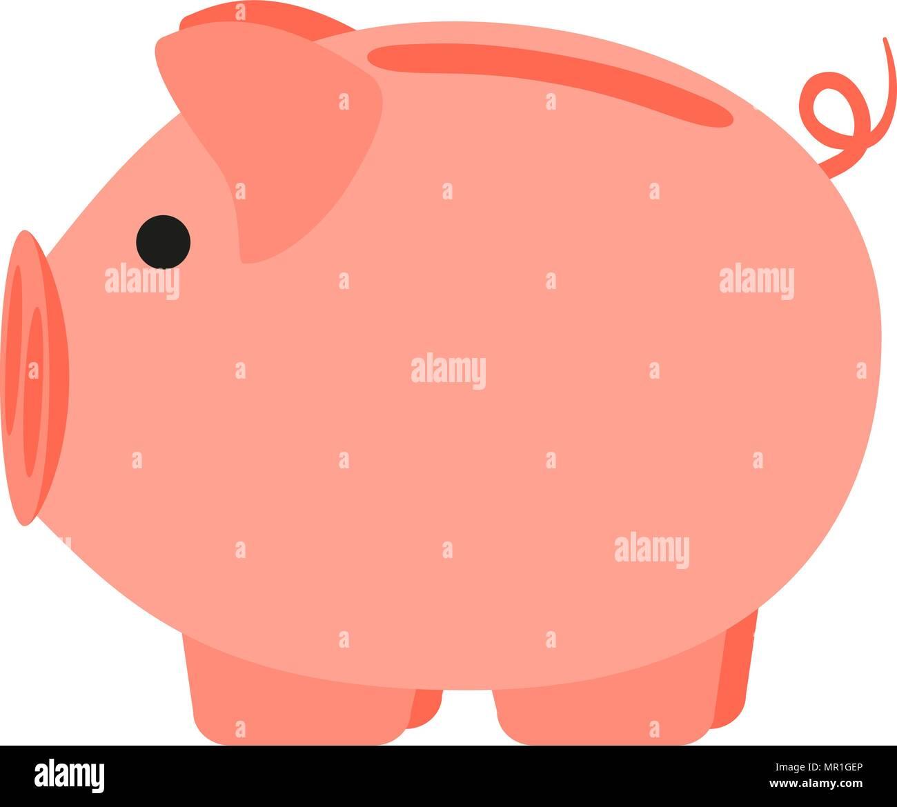 Colorful Cartoon Pink Piggy Bank 2019 Year Chinese Symbol Farm