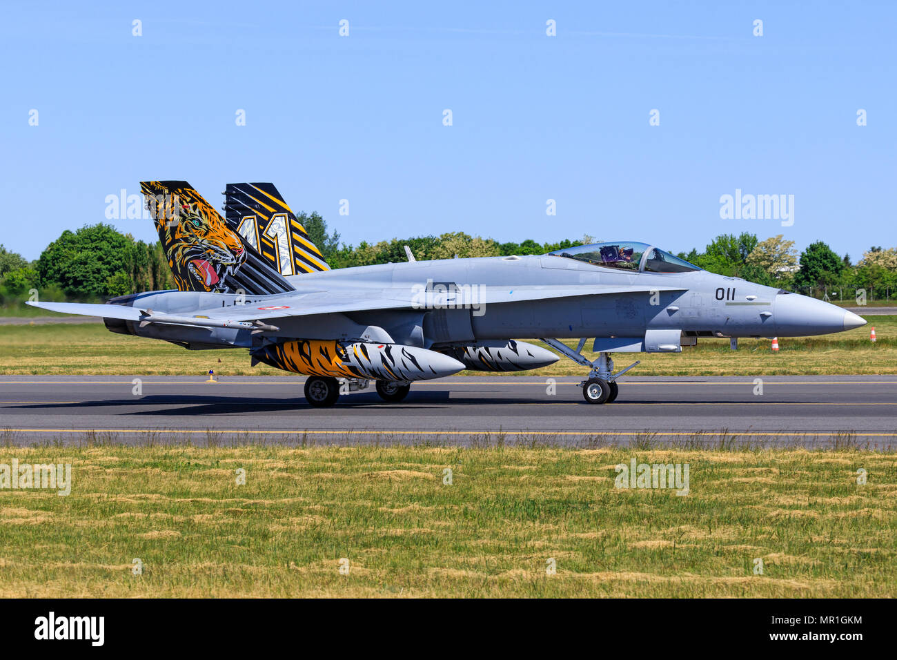 McDonnell Douglas F/A-18C Hornet from Switzerland - Air Force - Stock Image