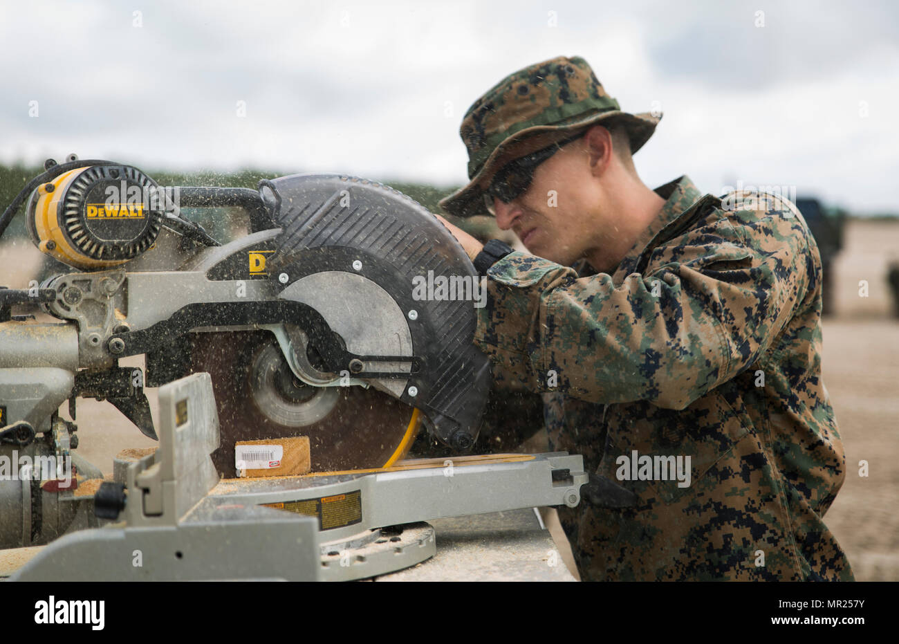 CAMP LEJEUNE, N C - Cpl  Andrew J  Busse, a combat engineer with the