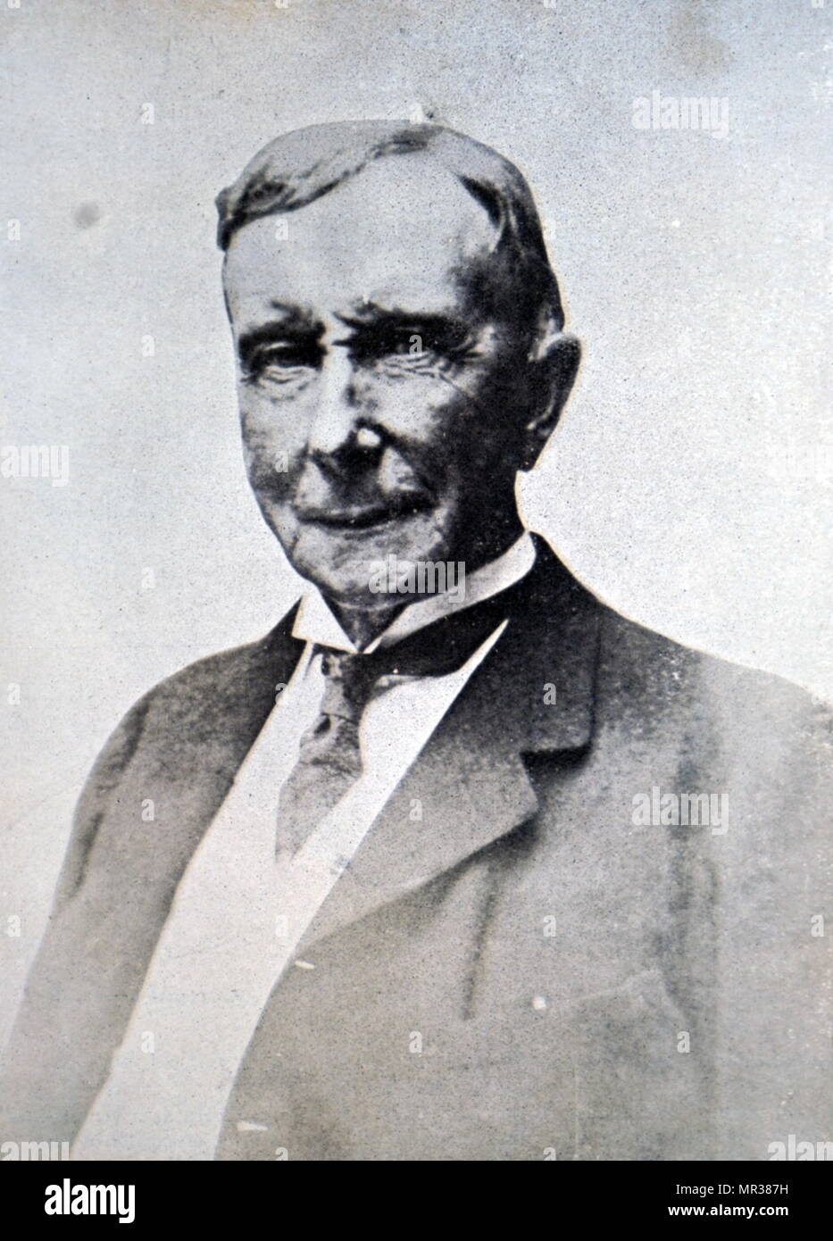 Photograph of John D. Rockefeller (1839-1937) an American oil industry business magnate and philanthropist. Dated 20th century - Stock Image