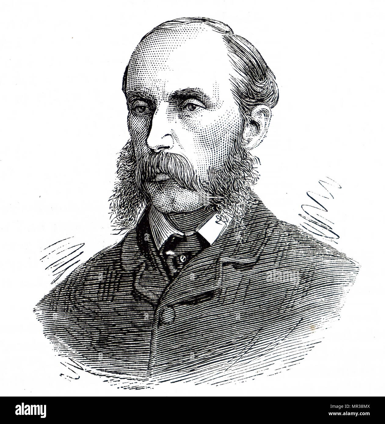Portrait of Sir James Rankin, 1st Baronet (1842-1915) a Conservative Party politician in the United Kingdom. Dated 19th century - Stock Image