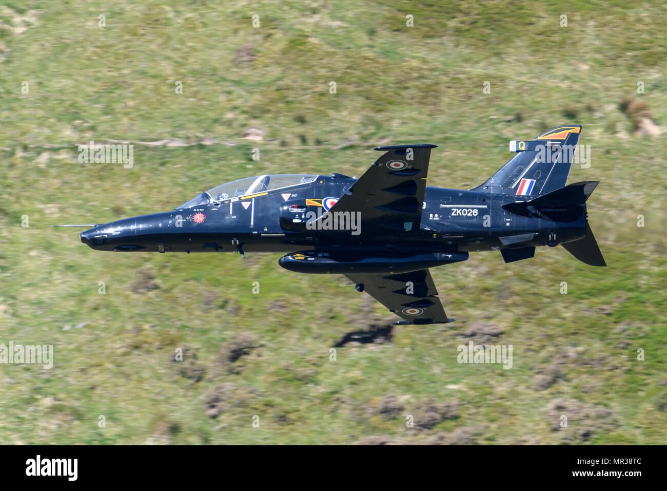 Hawk T2 flying through the Mack Loop Stock Photo