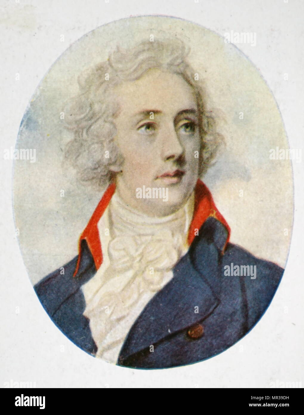 Portrait of William Pitt the Younger (1759-1806) a prominent British Tory statesman and the youngest Prime Minister at the age of 24. Dated 18th century - Stock Image