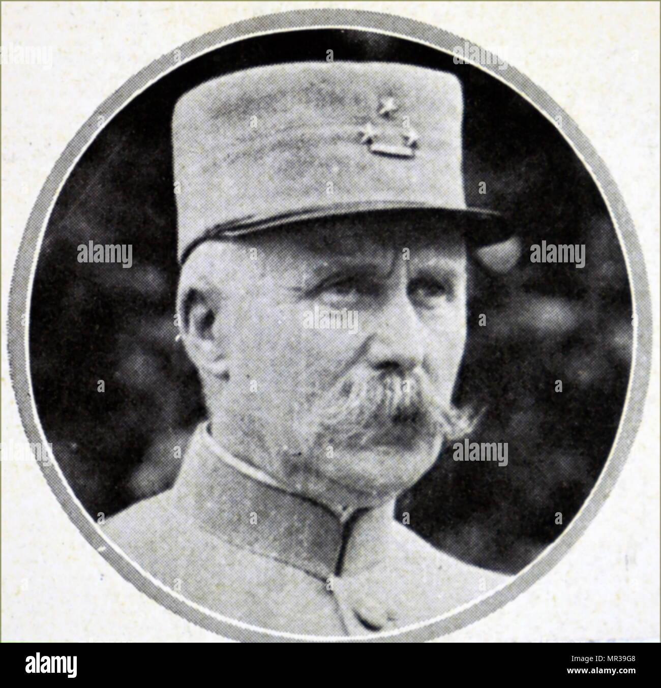 Photographic portrait of Philippe Petain (1856-1951) a French general officer, Marshal of France and French Ambassador to Spain. Dated 20th century - Stock Image