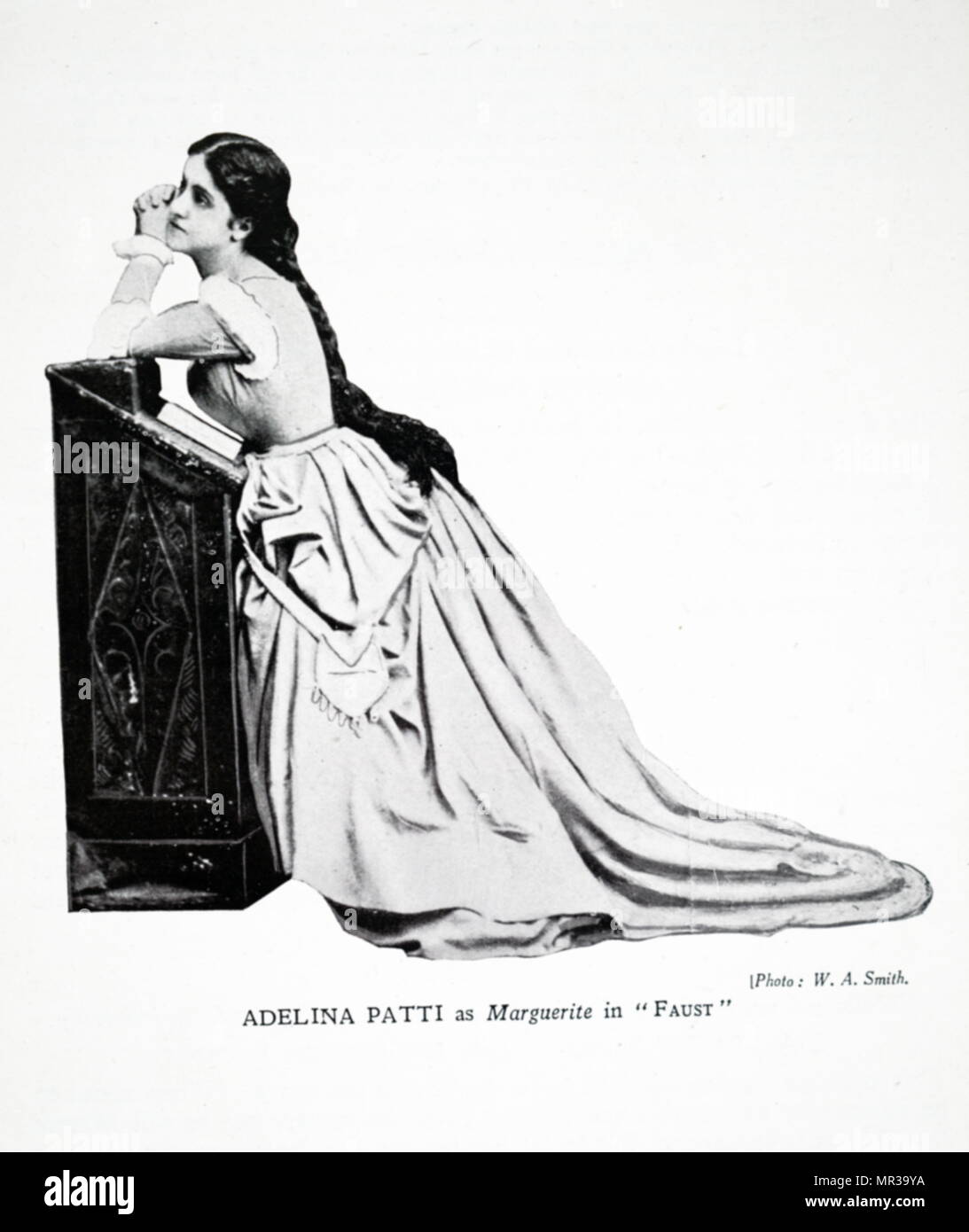 Photograph of Adelina Patti as Marguerite in 'Faust'. Adelina Patti (1843-1919) an Italian-French opera singer. Dated 19th century - Stock Image