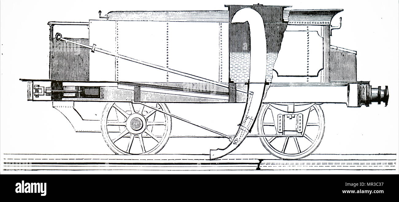 Apparatus Diagram Of Water Automotive Wiring Simple Distillation John Ramsbottom S Locomotive Enabling Tender To Rh Alamy Com Process