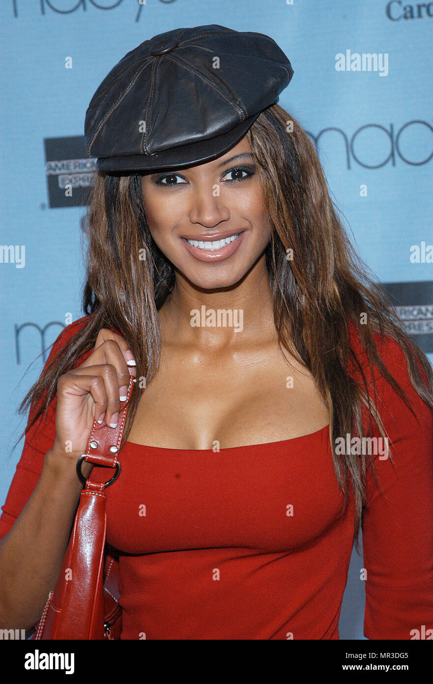 Traci Bingham arriving at the 20th Macy's and American Express Anniversary Gala at the Barker Hangar in Santa Monica Los Angeles. September 28, 2002.BinghamTraci080 Red Carpet Event, Vertical, USA, Film Industry, Celebrities,  Photography, Bestof, Arts Culture and Entertainment, Topix Celebrities fashion /  Vertical, Best of, Event in Hollywood Life - California,  Red Carpet and backstage, USA, Film Industry, Celebrities,  movie celebrities, TV celebrities, Music celebrities, Photography, Bestof, Arts Culture and Entertainment,  Topix, headshot, vertical, one person,, from the year , 2002, inq - Stock Image