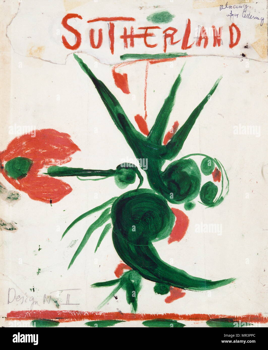 The Bird' 1962, by Graham Sutherland 1903-1980, English surrealist artist - Stock Image
