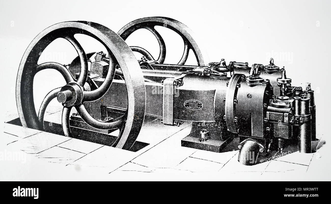 4 Stroke Engine Stock Photos Images Alamy Honda Cb750 Cutaway Engraving Depicting A Horizontal Otto Manufactured By Crossley Bros Of Manchester This