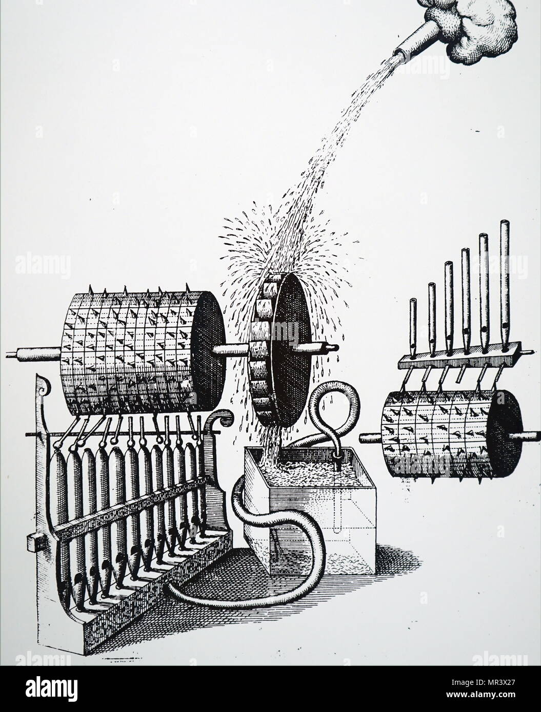 Water Powered Pipe Organ Stock Photos & Water Powered Pipe Organ