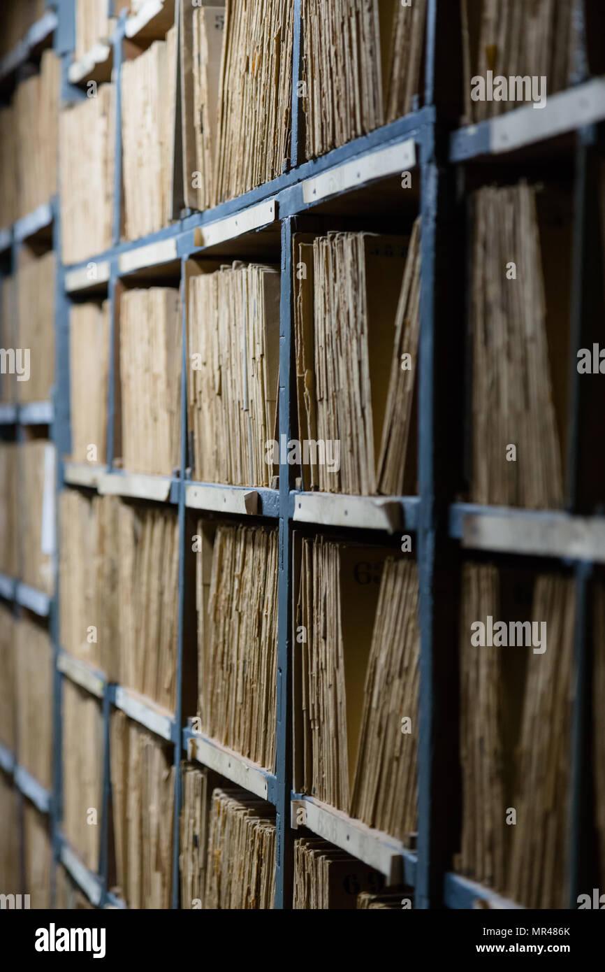 Archive negative photographic Alinari, Florence. - Stock Image