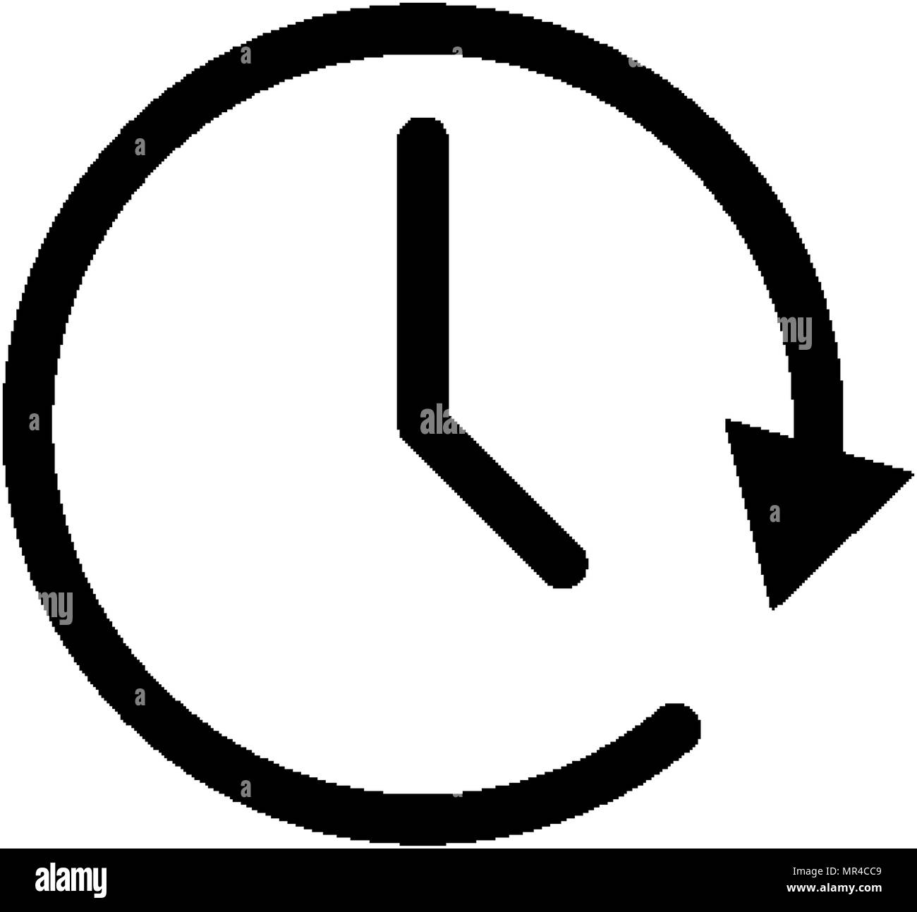 time clock icon watch concept stopwatch symbol stock vector art