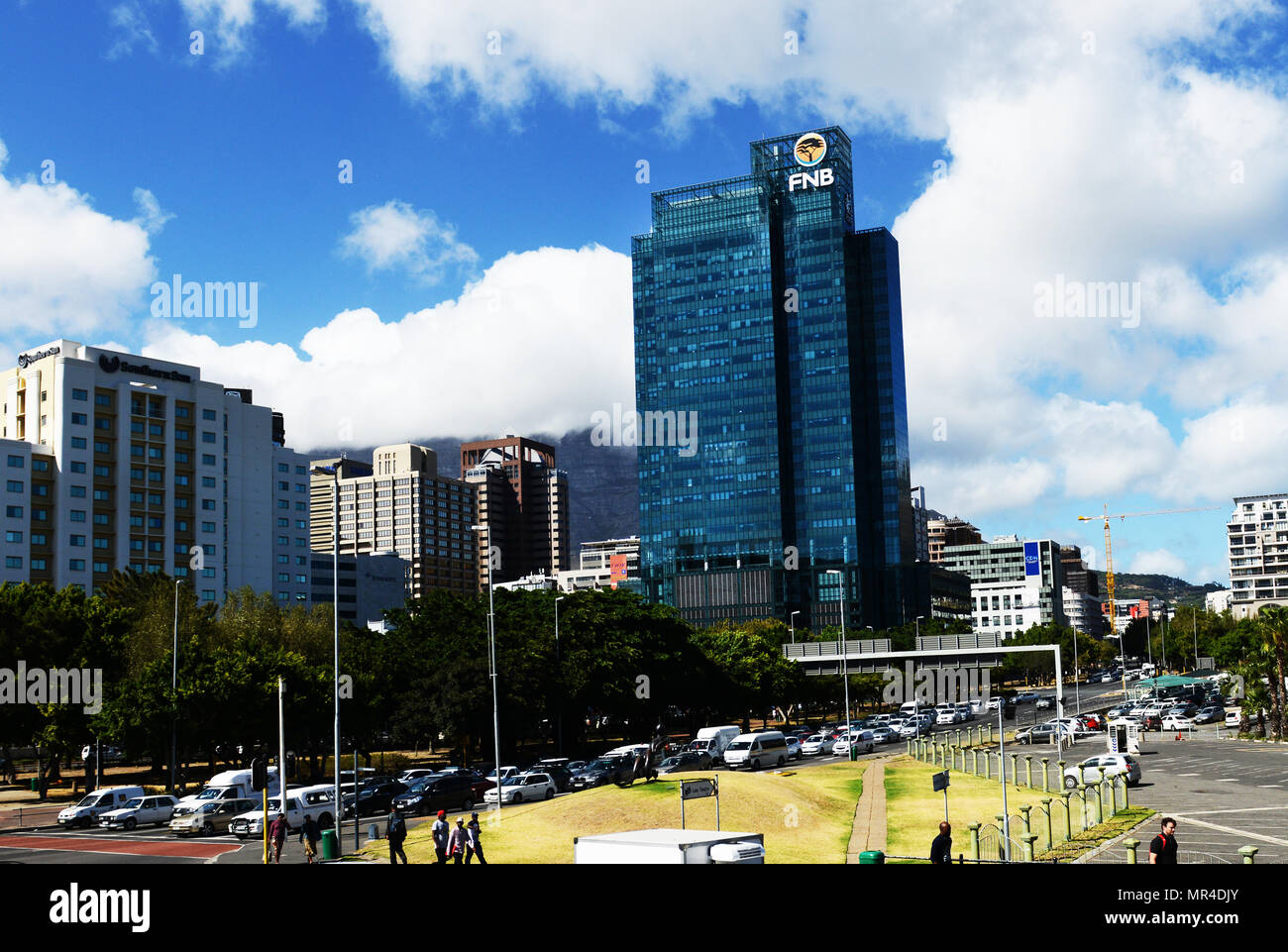 Portside Tower in Cape Town city's center. Stock Photo