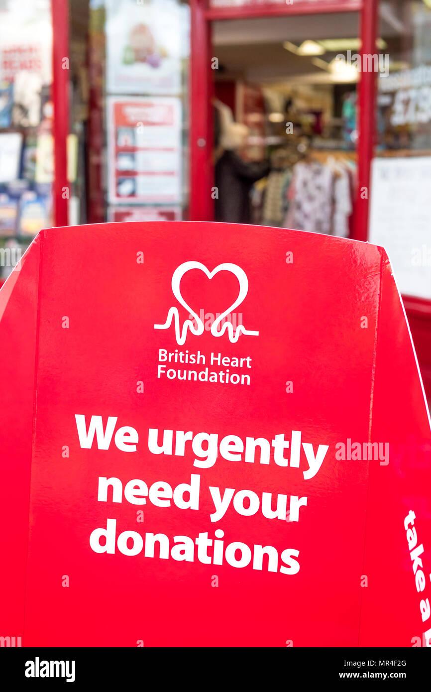 British Heart Foundation - Stock Image