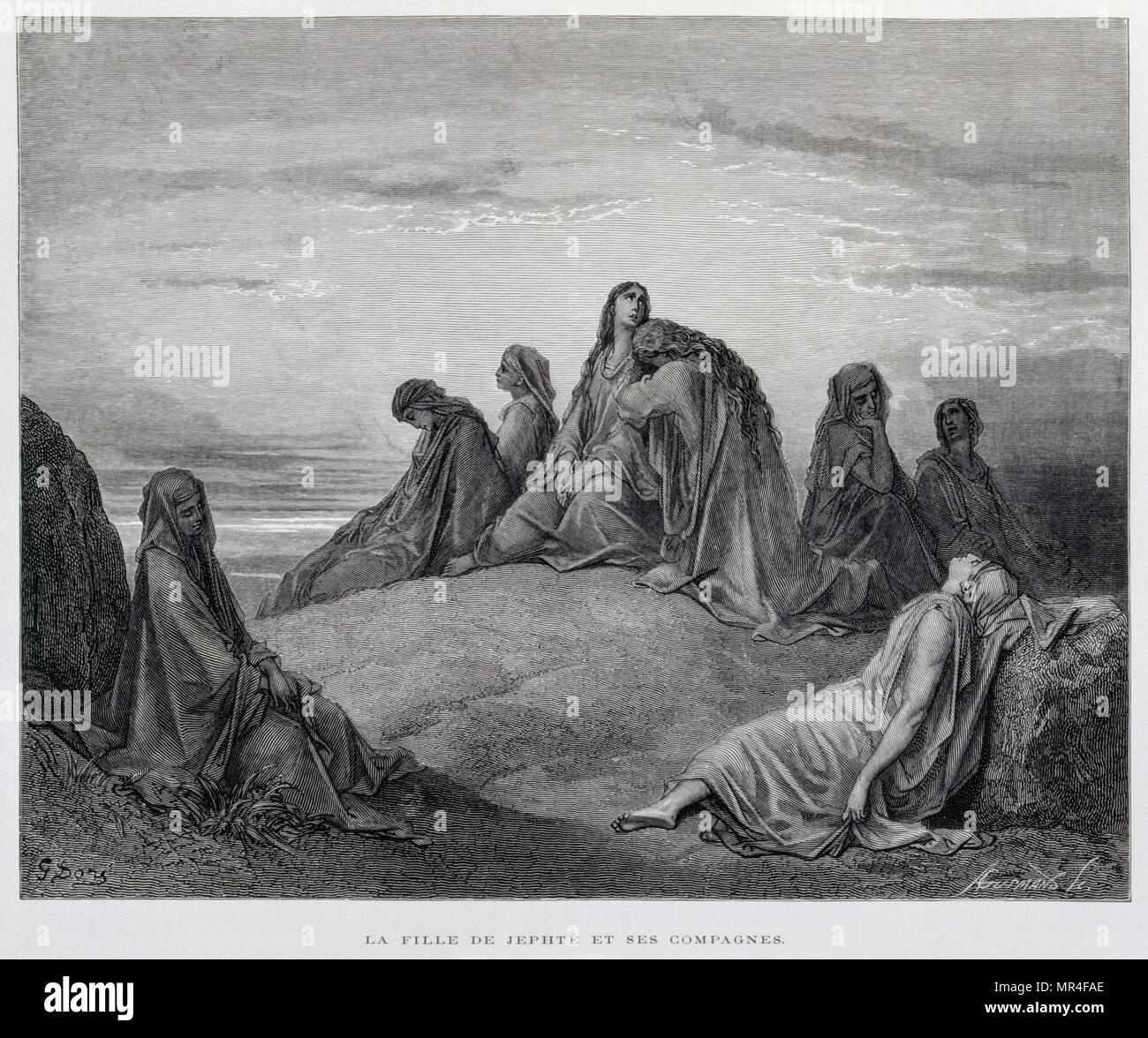 The Daughters Of Jepthah Illustration From The Dore Bible 1866 In