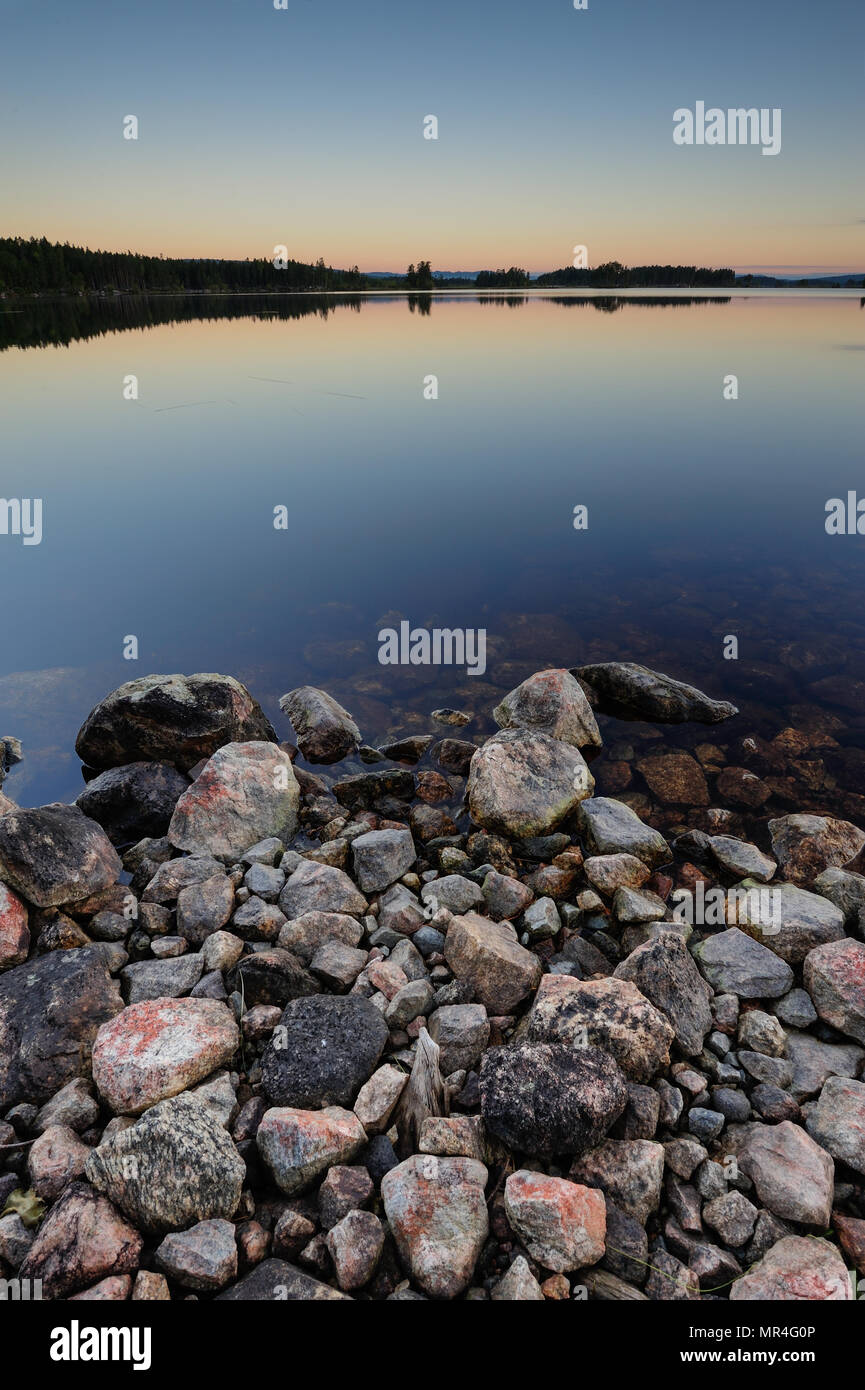 The storhamra sea before sunrise, wilderness in sweden - Stock Image