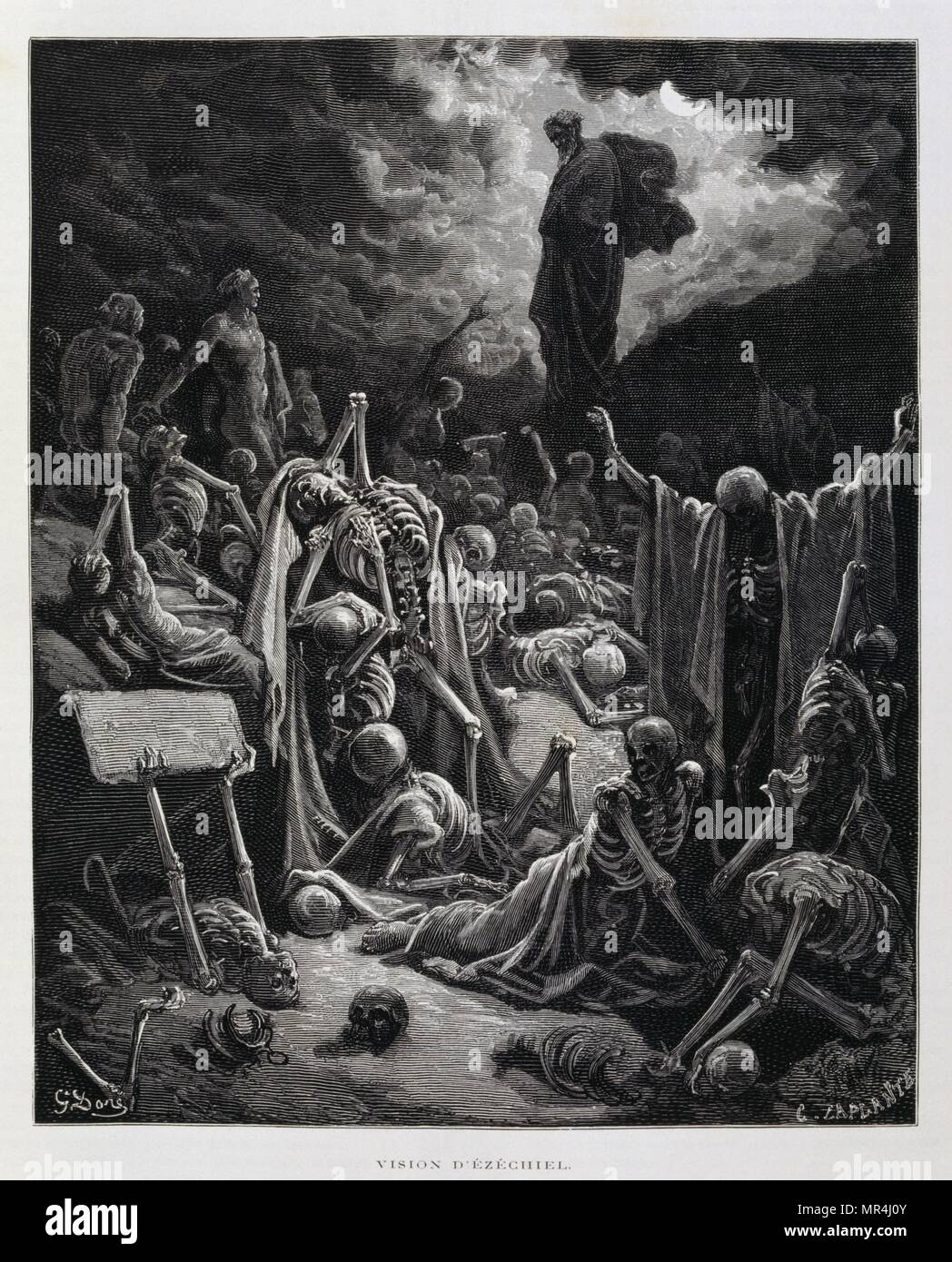 Engraving by  Gustave Dore (1832-1883) - Stock Image