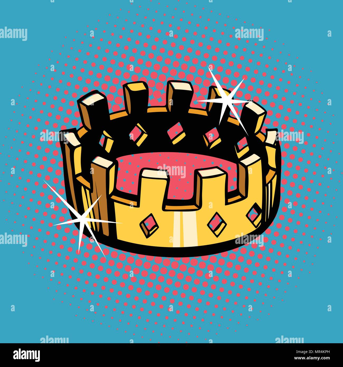 Golden crown, state power - Stock Image