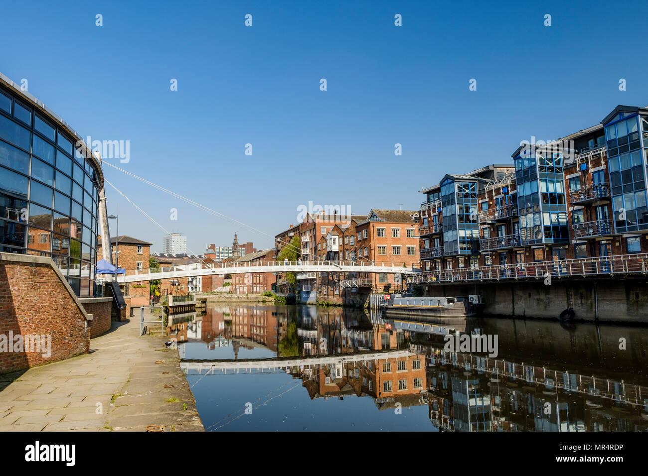 Brewery Wharf and Centenary Bridge, Leeds, West Yorkshire