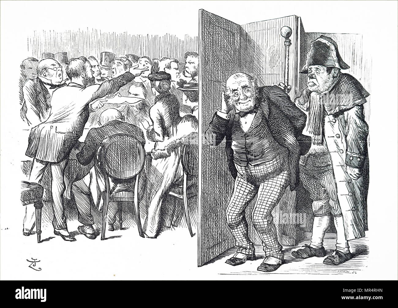 political cartoon commenting on the london county council