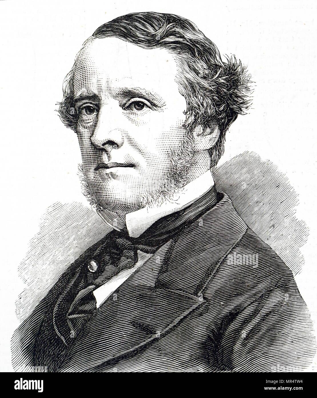Portrait of Chichester Parkinson-Fortescue, 1st Baron Carlingford (1823-1898) a British Liberal politician. Dated 19th century Stock Photo