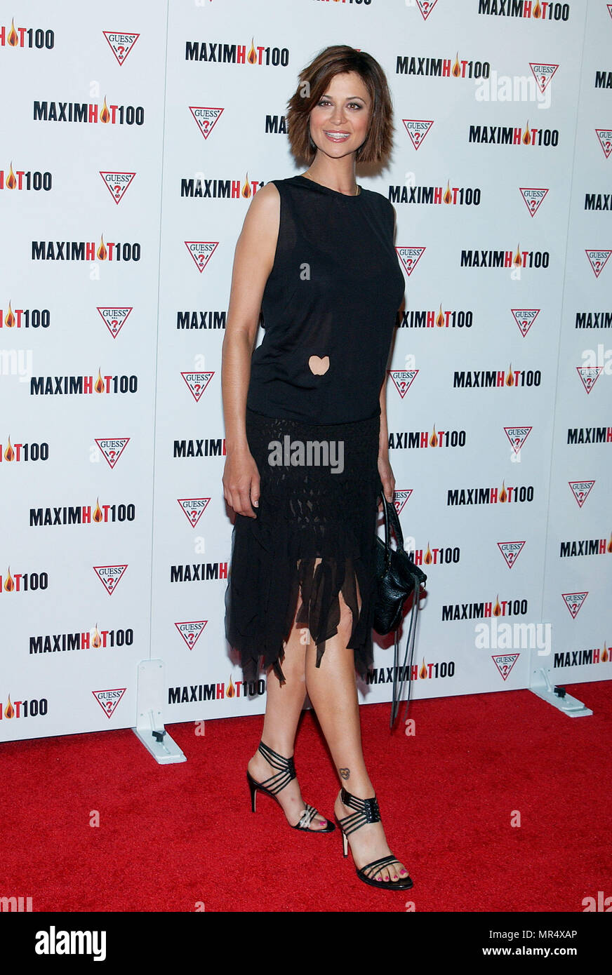 Catherine Bell arriving at the HOT 100 party organize by ...