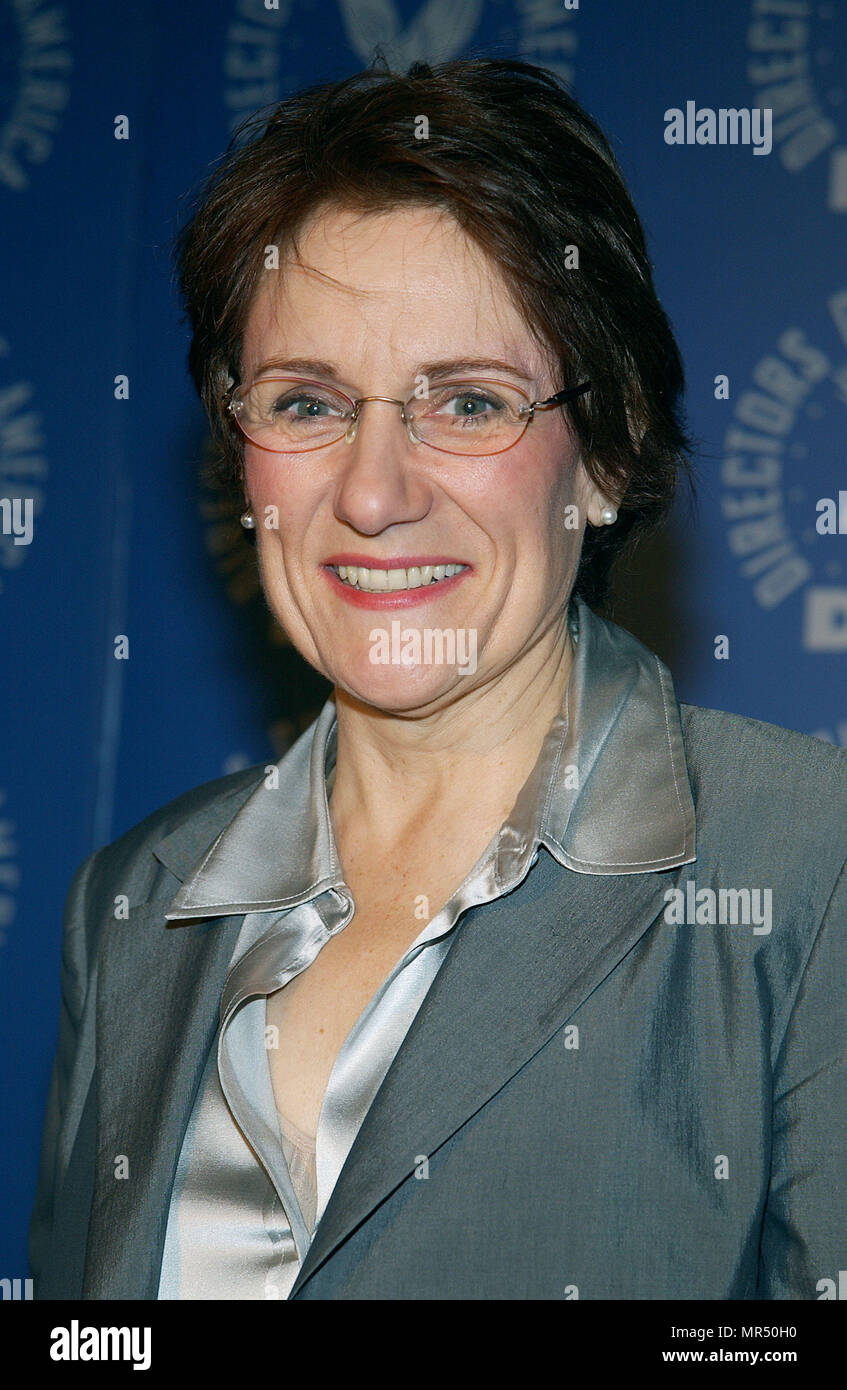 The president of th Director Guild of America, Martha Coolidge  Announce DGA nominees for Outstanding Directorial Achievement in Feature Film For 2002 at the DGA in Los Angeles. January 21, 2003.CoolidgeMartha_DGAann910 Red Carpet Event, Vertical, USA, Film Industry, Celebrities,  Photography, Bestof, Arts Culture and Entertainment, Topix Celebrities fashion /  Vertical, Best of, Event in Hollywood Life - California,  Red Carpet and backstage, USA, Film Industry, Celebrities,  movie celebrities, TV celebrities, Music celebrities, Photography, Bestof, Arts Culture and Entertainment,  Topix, hea - Stock Image