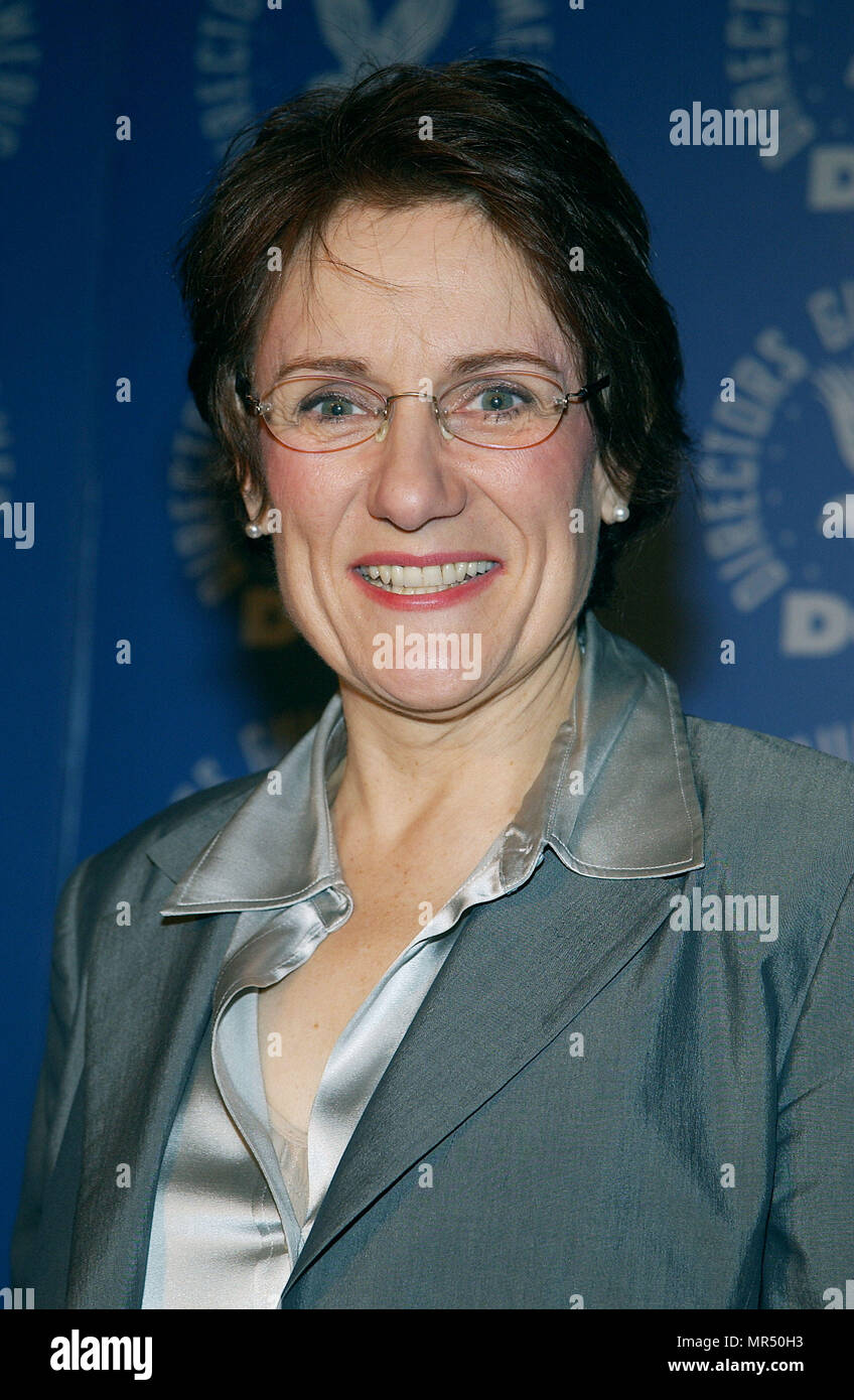 The president of th Director Guild of America, Martha Coolidge  Announce DGA nominees for Outstanding Directorial Achievement in Feature Film For 2002 at the DGA in Los Angeles. January 21, 2003.CoolidgeMartha_DGAann913 Red Carpet Event, Vertical, USA, Film Industry, Celebrities,  Photography, Bestof, Arts Culture and Entertainment, Topix Celebrities fashion /  Vertical, Best of, Event in Hollywood Life - California,  Red Carpet and backstage, USA, Film Industry, Celebrities,  movie celebrities, TV celebrities, Music celebrities, Photography, Bestof, Arts Culture and Entertainment,  Topix, hea - Stock Image