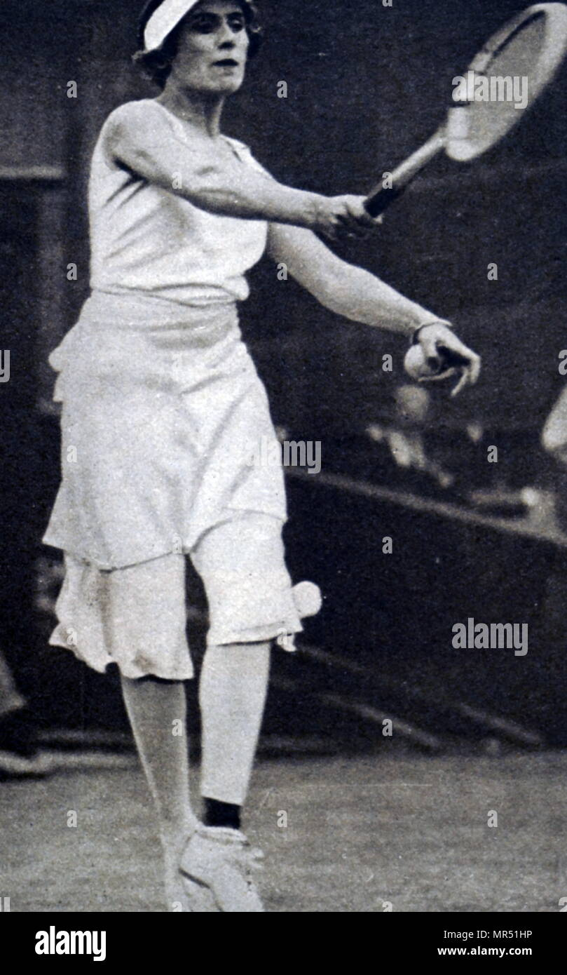 Photograph of Lilí Álvarez (1905-1998) a Spanish multi-sport competitor, an international tennis champion, an author, feminist and journalist. Dated 20th century - Stock Image