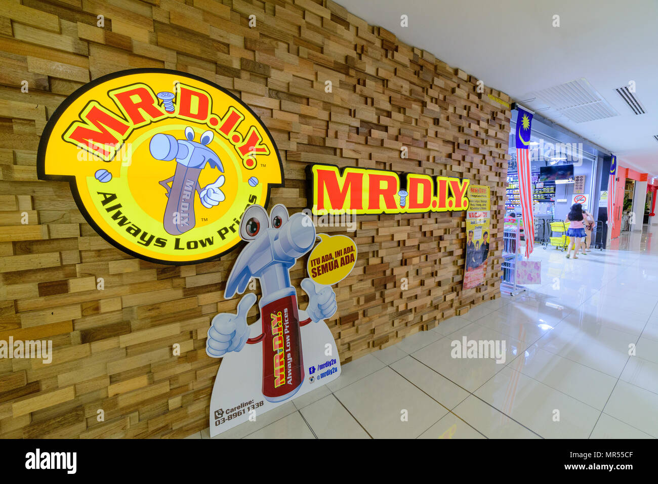 Penang, Malaysia - Nov 12, 2017 : MR. D.I.Y. shop. MR. D.I.Y. is the largest home improvement retailer in Malaysia. The company retails a variety of h - Stock Image