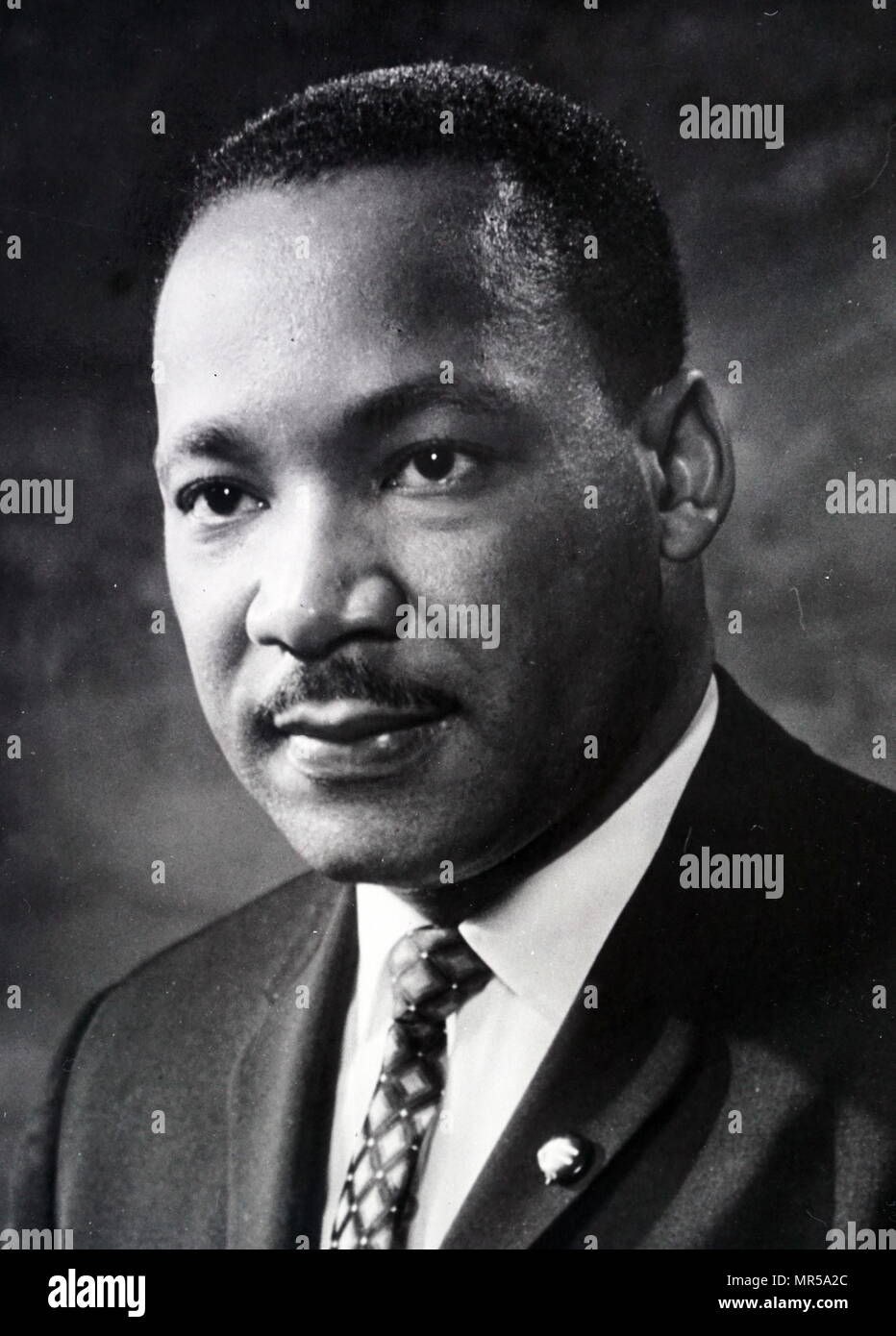 Photograph of Martin Luther King Jr. (1929-1968) an American Baptist minister, civil rights activist and Nobel Peace Prize-winner. Dated 20th century - Stock Image