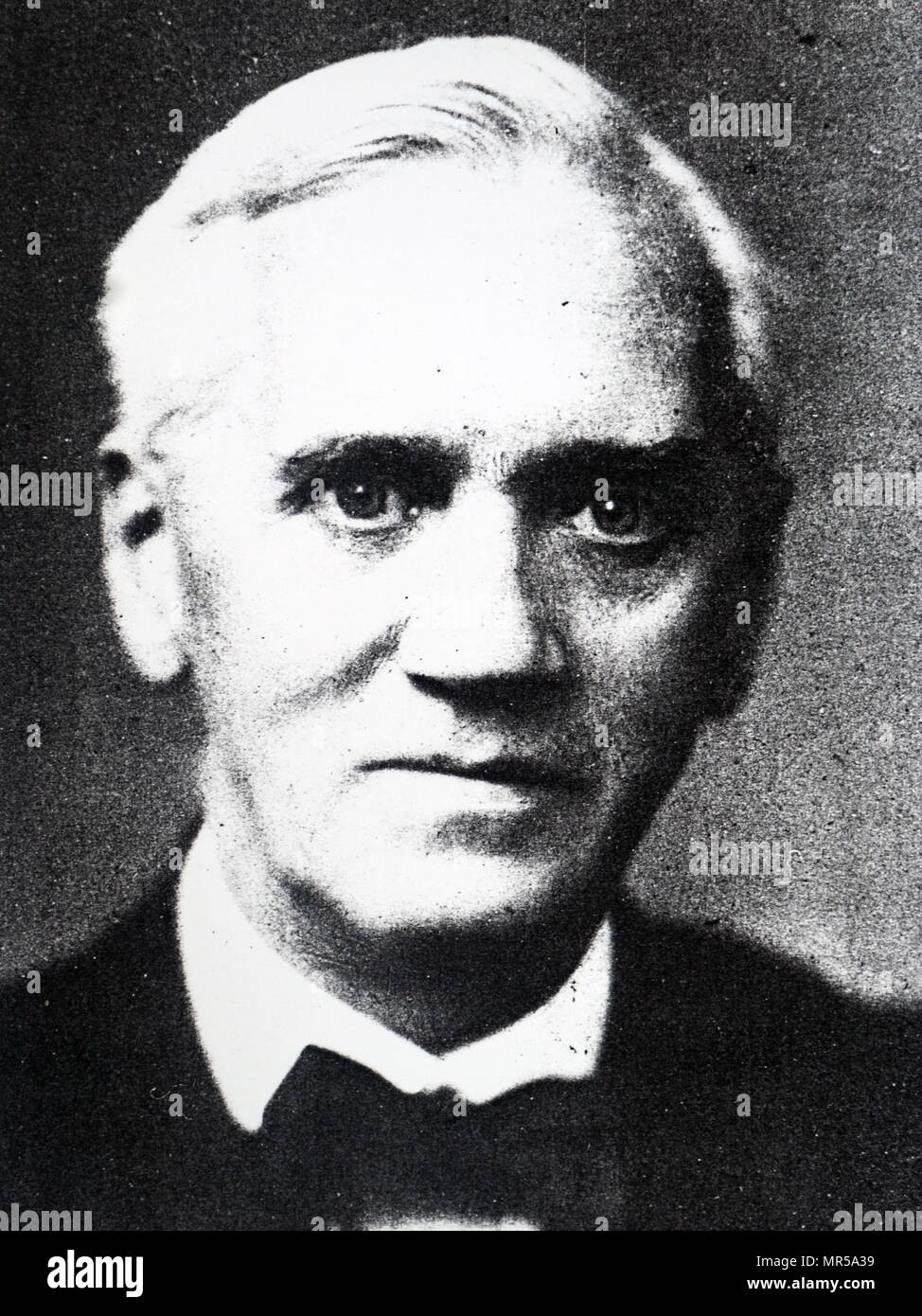 Photograph of Alexander Fleming (1881-1955) a Scottish physician, microbiologist, pharmacologist, and Nobel Prize-Winner in Medicine. Dated 20th century - Stock Image