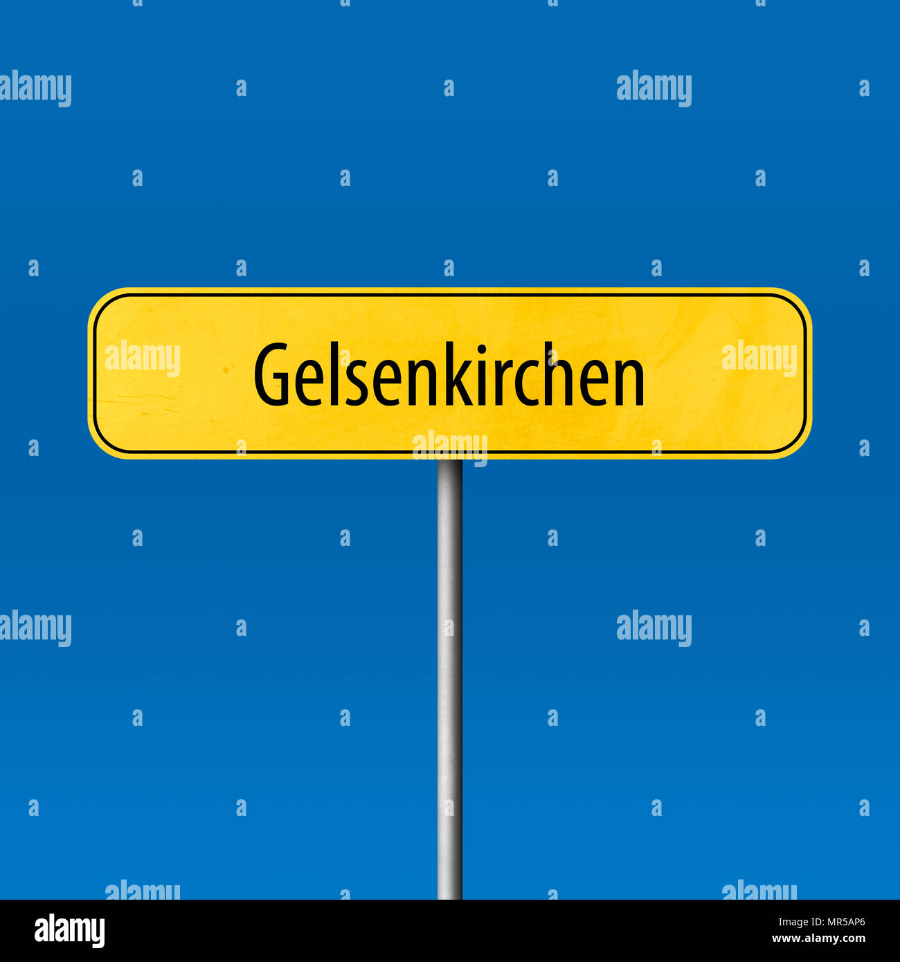 Gelsenkirchen - town sign, place name sign - Stock Image